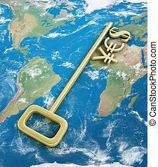金, 通貨 記号, 上に, ∥, キー, ∥で∥, ∥, 単語, はい, 上に, ∥, world.