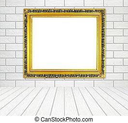 金, 部屋, 壁, フレーム, 木, ブランク, 白,  style),  (block