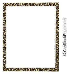 金, 隔離された, frame., 映像, 白