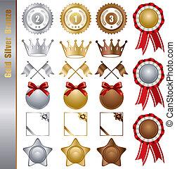 金, 集合, 獎品, 銀, 青銅