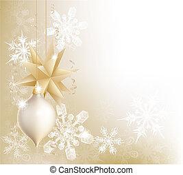 金, 雪花, 以及, 圣誕節小玩意