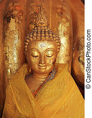 金, 顔, 仏教, 仏, 像, 彫刻, 寺院