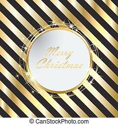 金, 黒, ストライプ, 背景, クリスマス
