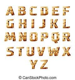 金, 3d, アルファベット