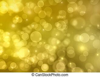 金,  bokeh, ライト, 抽象的, 背景