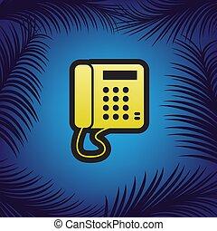 金, cont, コミュニケーション, 印。, 電話, 黒, vector., ∥あるいは∥, アイコン