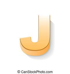 金, j, 手紙, 3d