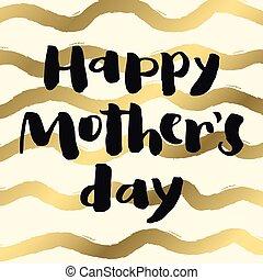 金, mother's, card., 挨拶, 日, 幸せ