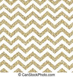 金, pattern., seamless, 表面, 山形そで章, きらめく