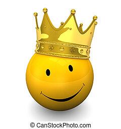 金, smiley, 王冠