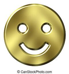 金, smiley, 3d