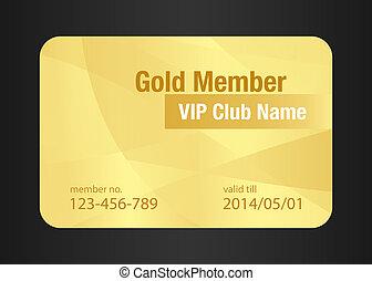 金, vip, クラブ, カード