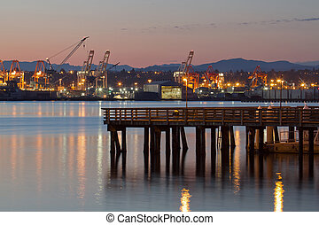 釣りせき柱, ∥において∥, alki, 浜, シアトル, ワシントン