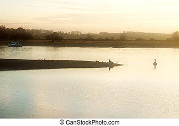 釣り人, 防波堤