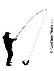 釣り, ベクトル, -