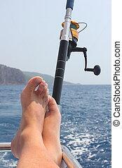 釣り, リラックスした