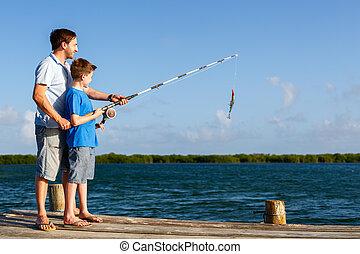 釣り, 家族