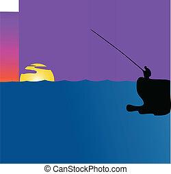 釣り, 日没