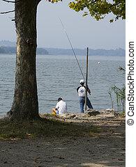 釣り, 湖