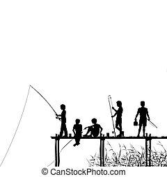 釣り, 突堤