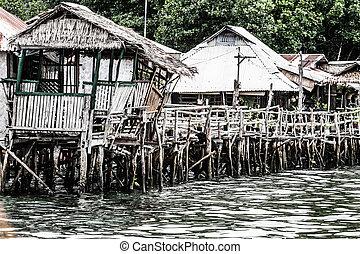 釣り, coron, 村, フィリピン