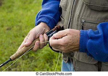 釣魚者, 細節