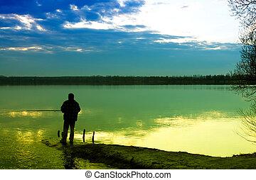 釣魚, 湖