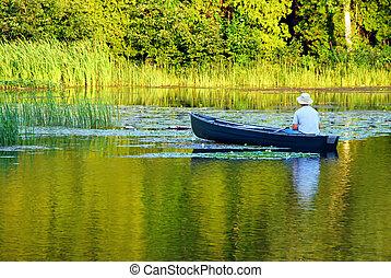 釣魚, 獨木舟