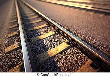 鉄道, まっすぐに, track.