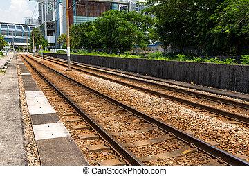 鉄道, 屋外