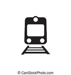 鉄道, 白, 隔離された, 背景, アイコン