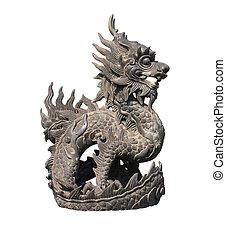 鉄, ベトナム, 色合い, 像, ドラゴン