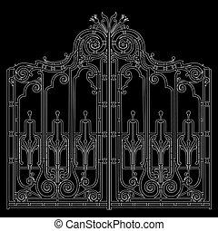 鉄, 装飾用, 門
