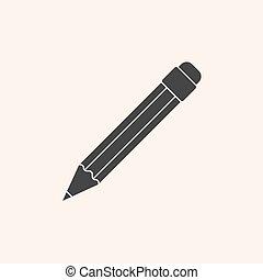 鉛筆, アイコン