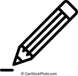 鉛筆, アウトライン, アイコン