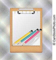 鉛筆, クリップボード