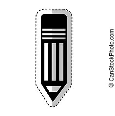 鉛筆, シルエット, 隔離された, アイコン