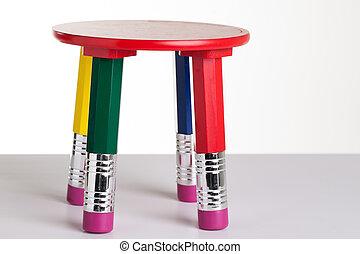 鉛筆, テーブル