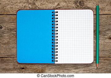鉛筆, ノート, 空