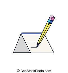 鉛筆, ペーパー, 隔離された, アイコン, 執筆