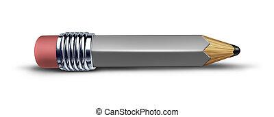鉛筆, 不足分, 灰色