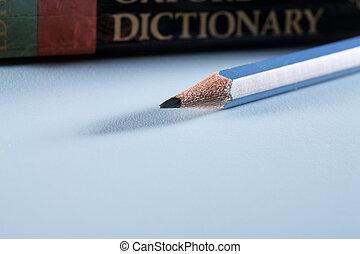 鉛筆, 以及, 字典