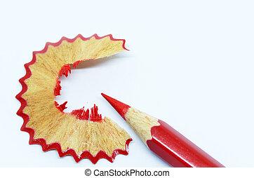 鉛筆, 削られる, 木製のshavings