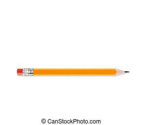 鉛筆, 削られる, 黄色