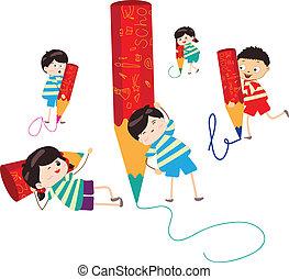 鉛筆, 圖畫