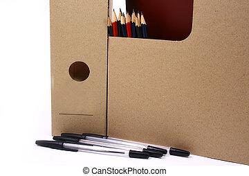 鉛筆, 在懷特上, 被隔离, 背景