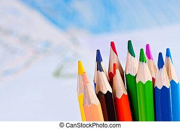 鉛筆, 在背景上, picture.