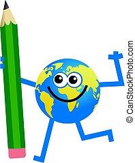 鉛筆, 地球