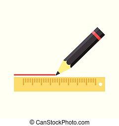 鉛筆, 執筆, 定規