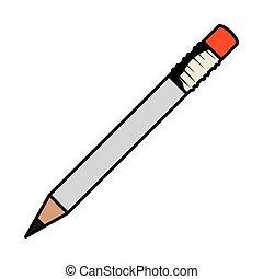鉛筆, 執筆, 隔離された, アイコン